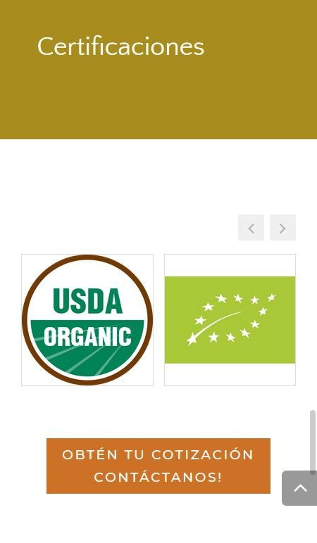 Sinai Quinoa - certifications mobile