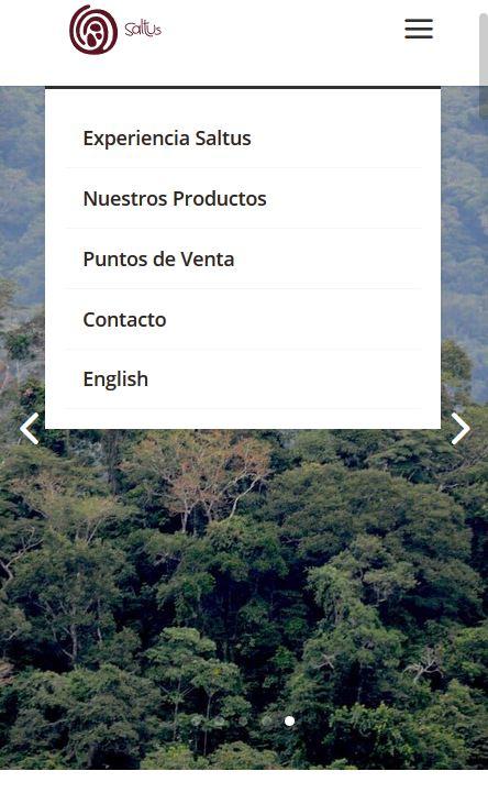 Saltus - menu mobile